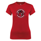 Ladies Syntrel Performance Red Tee-Badge
