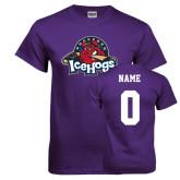 Purple T Shirt-Primary Mark, Custom tee w/ Name and #