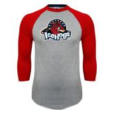 Grey/Red Raglan Baseball T-Shirt-Primary Mark