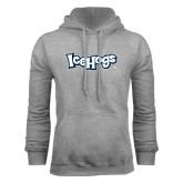 Grey Fleece Hoodie-IceHogs Wordmark