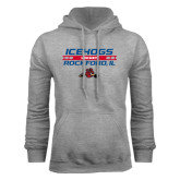 Grey Fleece Hoodie-Hockey Bar Design