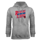 Grey Fleece Hoodie-Slanted Design
