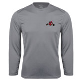Performance Steel Longsleeve Shirt-Hammy w/ Hockey Stick