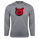 Performance Steel Longsleeve Shirt-Pig Butt Logo