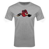 Grey T Shirt-Hammy w/ Hockey Stick