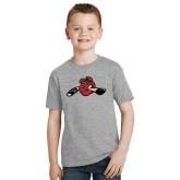 Youth Grey T-Shirt-Hammy w/ Hockey Stick