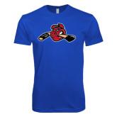 Next Level SoftStyle Royal T Shirt-Hammy w/ Hockey Stick
