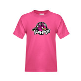 Youth Cyber Pink T Shirt-Pink in the Rink