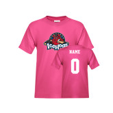 Youth Cyber Pink T Shirt-Primary Mark, Custom tee w/ Name and #