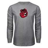 Grey Long Sleeve T Shirt-Hammy Head