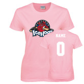 Ladies Pink T-Shirt-Primary Mark, Custom tee w/ Name and #