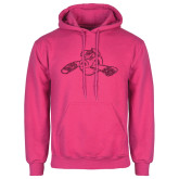 Fuchsia Fleece Hood-Hammy w/ Hockey Stick