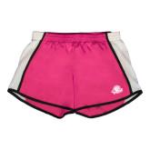 Ladies Fuchsia/White Team Short-Primary Mark