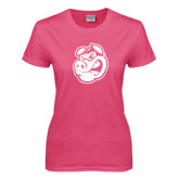 Ladies Fuchsia T Shirt-Hammy Head