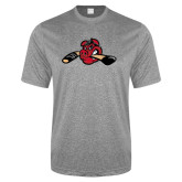 Performance Grey Heather Contender Tee-Hammy w/ Hockey Stick