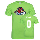 Neon Green T Shirt-Primary Mark, Custom tee w/ Name and #