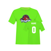 Youth Neon Green T Shirt-Primary Mark, Custom tee w/ Name and #