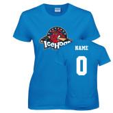 Ladies Sapphire T Shirt-Primary Mark, Custom tee w/ Name and #
