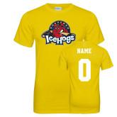 Neon Yellow T Shirt-Primary Mark, Custom tee w/ Name and #