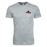 Next Level SoftStyle Heather Grey T Shirt-Hammy w/ Hockey Stick