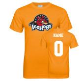Neon Orange T Shirt-Primary Mark, Custom tee w/ Name and #