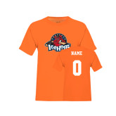 Youth Neon Orange T Shirt-Primary Mark, Custom tee w/ Name and #