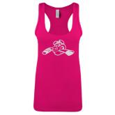 Next Level Ladies Raspberry Ideal Racerback Tank-Hammy w/ Hockey Stick