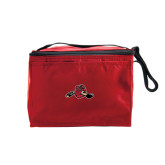 Six Pack Red Cooler-Hammy w/ Hockey Stick