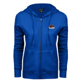 ENZA Ladies Royal Fleece Full Zip Hoodie-Primary Mark