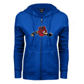 ENZA Ladies Royal Fleece Full Zip Hoodie-Hammy w/ Hockey Stick