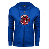 ENZA Ladies Royal Fleece Full Zip Hoodie-Badge