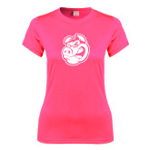 Ladies Performance Hot Pink Tee-Hammy Head