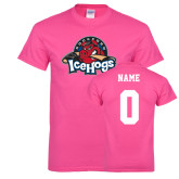 Hot Pink T Shirt-Primary Mark, Custom tee w/ Name and #