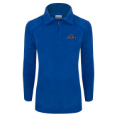 Columbia Ladies Half Zip Royal Fleece Jacket-Hammy w/ Hockey Stick