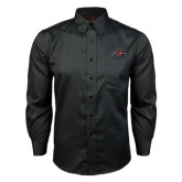Red House Black Long Sleeve Shirt-Hammy w/ Hockey Stick