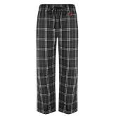 Black/Grey Flannel Pajama Pant-Hammy w/ Hockey Stick