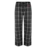 Black/Grey Flannel Pajama Pant-Hammy w/ Hockey Stick