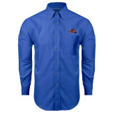 Mens Royal Oxford Long Sleeve Shirt-Hammy w/ Hockey Stick