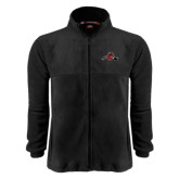Fleece Full Zip Black Jacket-Hammy w/ Hockey Stick