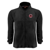Fleece Full Zip Black Jacket-Badge