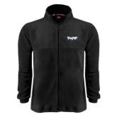 Fleece Full Zip Black Jacket-IceHogs Wordmark