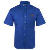 Royal Twill Button Down Short Sleeve-Hammy w/ Hockey Stick
