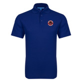 Royal Dry Zone Grid Polo-Badge