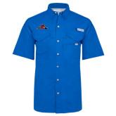 Columbia Bonehead Royal Short Sleeve Shirt-Hammy w/ Hockey Stick