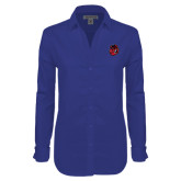 Ladies Red House Diamond Dobby Royal Long Sleeve Shirt-Hammy Head