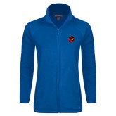 Ladies Fleece Full Zip Royal Jacket-Hammy Head