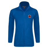 Ladies Fleece Full Zip Royal Jacket-Badge