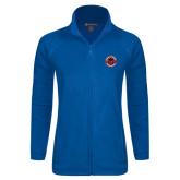 Ladies Fleece Full Zip Royal Jacket-Badge