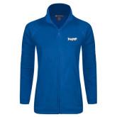 Ladies Fleece Full Zip Royal Jacket-IceHogs Wordmark