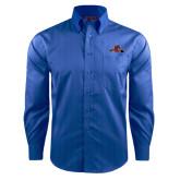 Red House French Blue Dobby Long Sleeve Shirt-Hammy w/ Hockey Stick